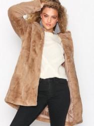 Object Collectors Item Objmia Faux Fur Coat 98 Faux Fur Lys Grå
