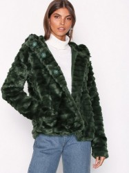 Object Collectors Item Objnew Sandie Faux Fur Jacket 98 Faux Fur Mørke Grøn