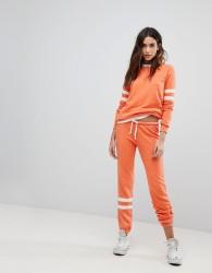Ocean Drive Burnout Stripe Jogger In Orange - Orange