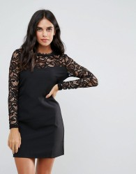 Oeuvre Lace Dress - Black