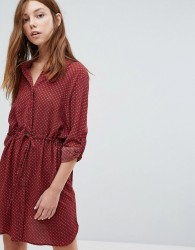 Oeuvre Shirt Dress - Red