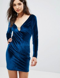 Oeuvre Velvet Dress - Blue