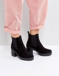 Office Alesha Heeled Boots - Black