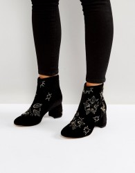 Office Arch Enemy Embellished Boots - Black
