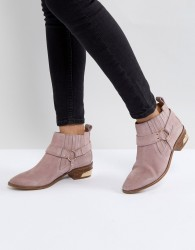 Office Atlas Blush Suede Western Boots - Pink