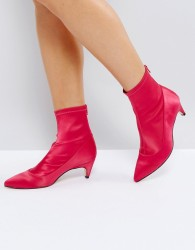Office Atomic Kitten Heel Sock Boot - Pink