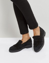 Office Farrow Suede Flat Shoes - Black