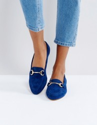 Office Fast Lane Suede Loafer Shoes - Navy