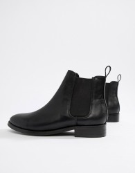 Office Flat Chelsea Boots - Black