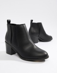 Office Heeled Chelsea Boots - Black