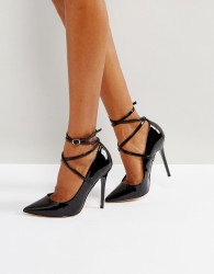 Office Hilda Suede Pointed Court Shoes - Black