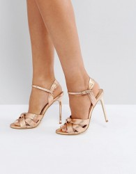 Office Hollie Rose Gold Heeled Sandals - Gold