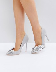 Office Hot Stuff Pointed Court Shoes - Grey