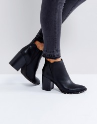 Office Isabella Studded Heeled Ankle Boots - Black