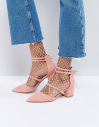 Office Mae Pointed Heeled Shoes - Pink