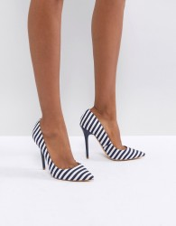 Office On Tops Striped Court Shoes - Multi