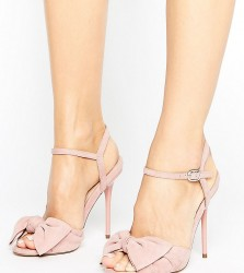 Office Scarlett Knot Heeled Sandals - Pink