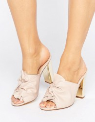 Office Spice Knot Heeled Mules - Pink