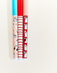 Oh Deer Gemma Correll Set of 3 Pens - Multi