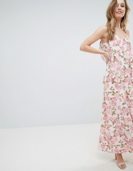 Oh My Love Cami Maxi Dress With Frill Detail - Multi