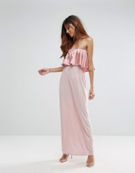 Oh My Love Frill Front Maxi Dress - Pink