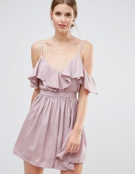 Oh My Love Frill Shoulder Cami Mini Dress - Pink
