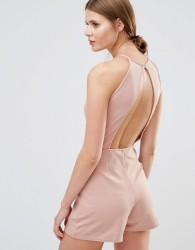 Oh My Love High Neck Playsuit - Pink
