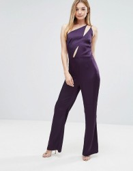 Oh My Love Jumpsuit With Slit Detail - Red