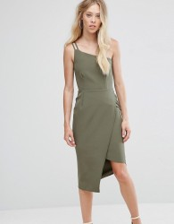 Oh My Love One Shoulder Midi Dress - Green