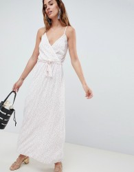 Oh My Love Spotty Maxi Dress - White