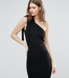 Oh My Love Tall One Shoulder Mini Dress - Black
