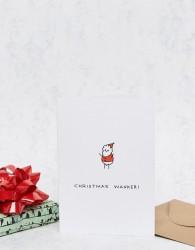 Ohh Deer Christmas Wanker Santa Card - Multi