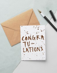 Ohh Deer Congratulations Card - Multi
