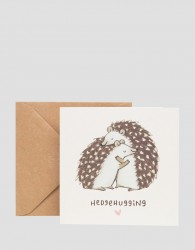 Ohh Deer Hedgehugging Valentines Card - Multi