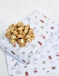 Ohh Deer Merry Shitmas Christmas Gift Wrap - Multi