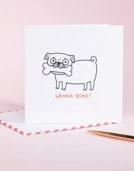 Ohh Deer Wanna Bone Valentines Card - Multi