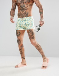 Oiler & Boiler Chevy Swim Short With Floral Print - Multi