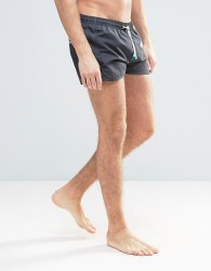 Oiler & Boiler Tuckernuck Shortie Swim Shorts In Black - Black