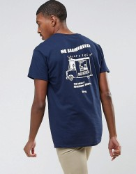 OK-YO Brainfreeze Back Print Oversized T-Shirt - Navy