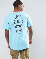 OK-YO Money Back Print Oversized T-Shirt - Blue