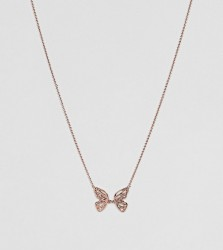Olivia Burton 18k Rose Gold Plated Butterfly Necklace - Gold