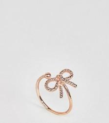 Olivia Burton 18k Rose Gold Plated Vintage Bow Adjustable Ring - Gold