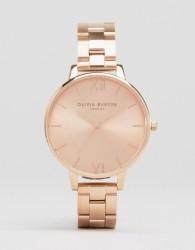 Olivia Burton Big Dial Rose Gold Bracelet Watch - Gold