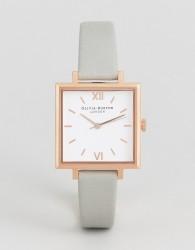 Olivia Burton Large Grey Square Dial Watch - Grey