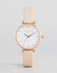 Olivia Burton Nude Leather Watch - Pink
