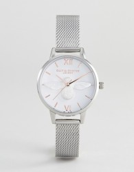 Olivia Burton OB16AM146 3D Bee Mesh Watch In Silver/Rose Gold - Silver