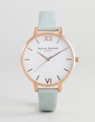Olivia Burton OB16BDW36 White Dial Leather Watch In Sage - Green