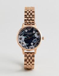 Olivia Burton OB16BF17 Bejewelled Floral Bracelet Watch In Rose Gold - Gold