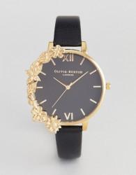 Olivia Burton OB16CB07 Case Cuff Leather Watch In Black - Black