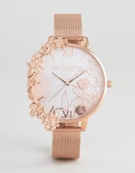 Olivia Burton OB16CB13 Case Cuff Mesh Watch In Rose Gold - Gold
